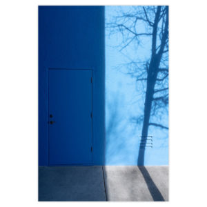 Blue Door With Tree Shadow Natalie Christensen Galerie Minimal