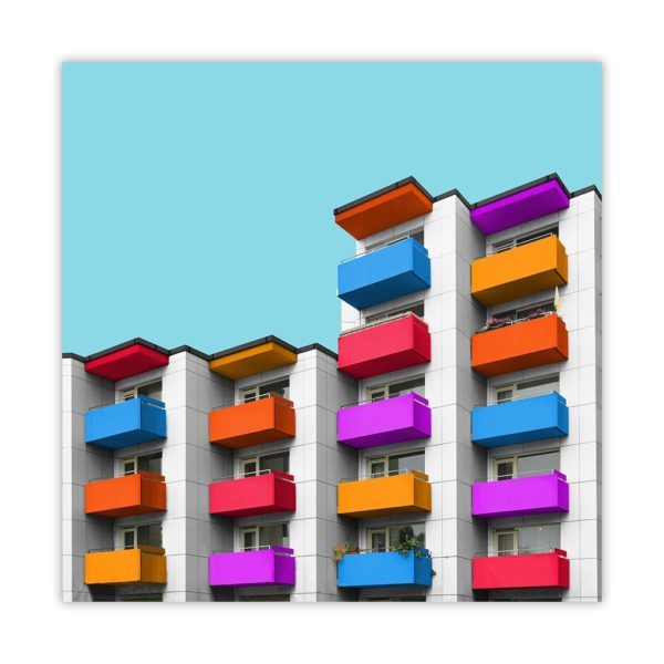 Angular apartment building
